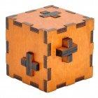 Wooden Swiss Secret Puzzle Box Wood Brain Teaser Toy