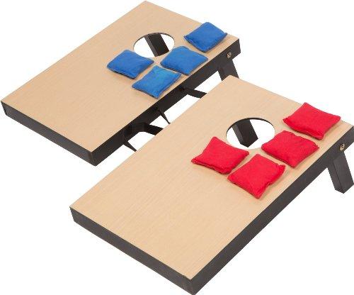 Trademark Innovations Miniature Indoor Desktop Bean Bag Toss Cornhole Game - 10 14 x 15 12