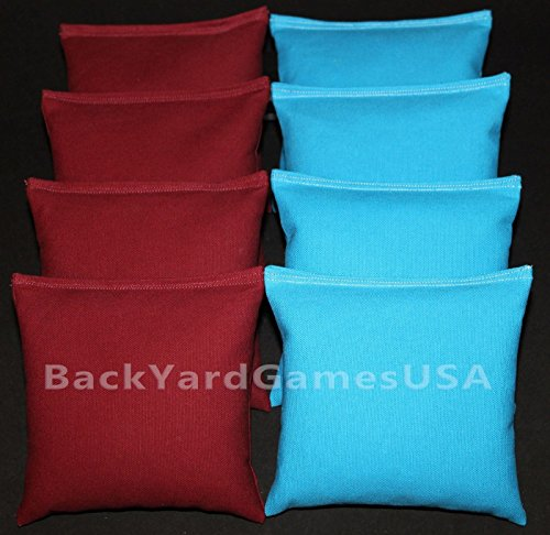 Cornhole Bean Bags Maroon Turquoise 8 All Weather Corn Hole Game Bags