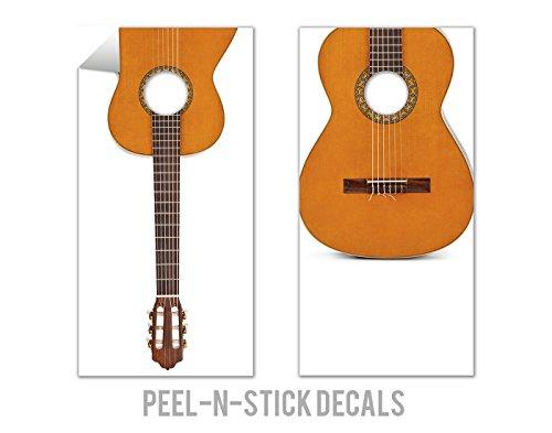 2 Piece Acoustic Guitar Cornhole Board Decal Set