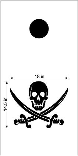 Jolly Rogers Pirate Cornhole Board Decals Stickers Bean Bag Toss