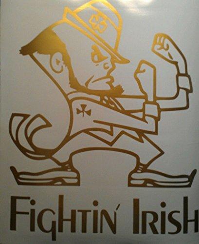 The Fighting Irish Notre Dame Cornhole Board Decals - Gold Cornhole Decals