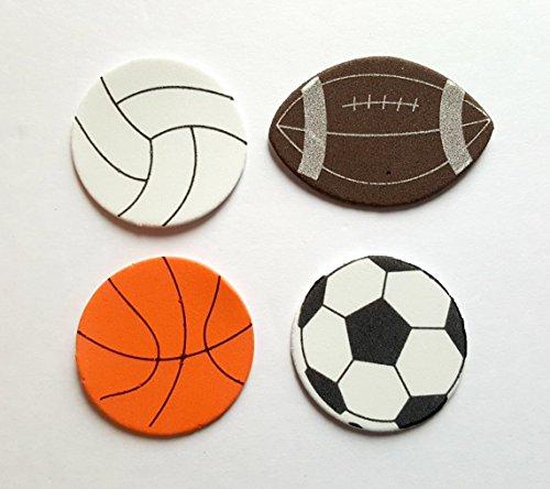 Nikkis Knick Knacks 120 Foam Sport Stickers- Soccer Volleyball Basketball and Football