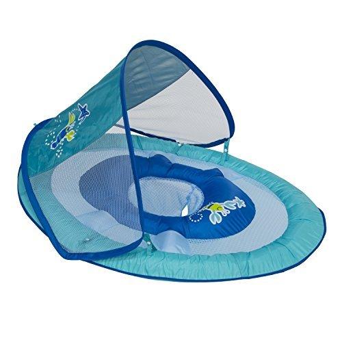 SwimWays Baby Spring Float Sun Canopy Blue Green
