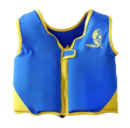 Boys Blueyellow Swim vest Learn-to-Swim Floatation Jackets Size Medium for Kids Age 35-55 Years Old