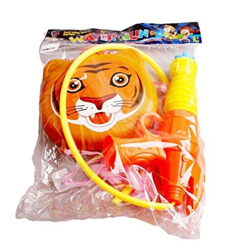 Jutao Kids High Pressure Backpack Water Gun Swimming Beach Toy Cartoon Tiger