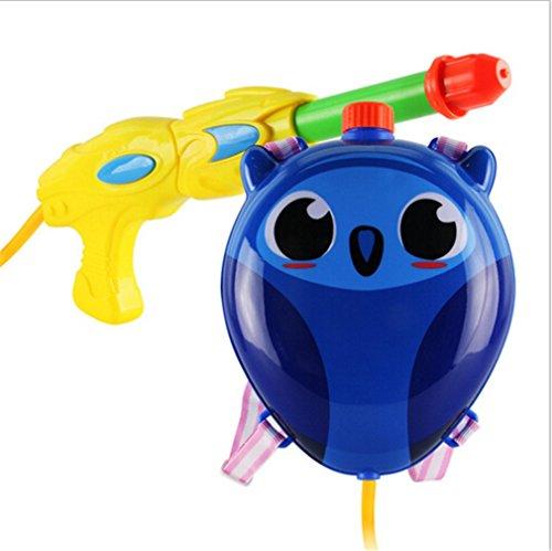 Jutao Kids Super Soakers Backpack Water Gun Pistol Squirt Gun Cute Owl Blue