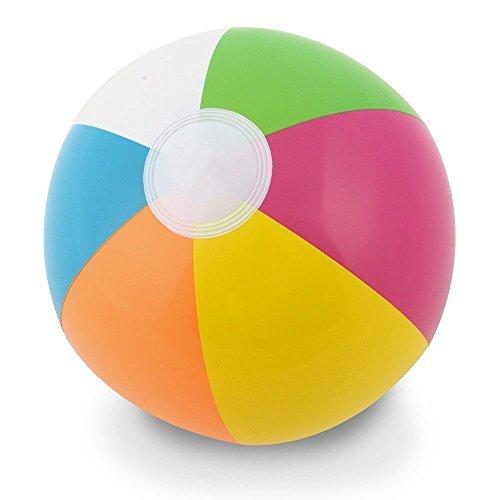 Kangaroo 12 Inflatable Neon Rainbow Beach Ball 12-Pack Pool Toys Beach Balls