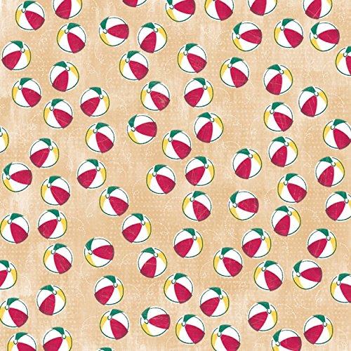 Summer Paper 12X12-Beach Ball  25 per pack