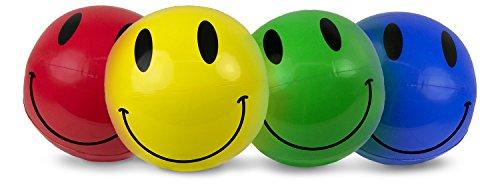 Poolmaster 16 Smile Play Beach Balls 4 Pack
