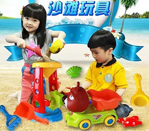 Rainbowkids Bath beach sandbox sets for Children Baby Boys Girls  Sand Water Toys Large-sized Hourglass Setsandbox sand tool setsSummer Beach Toys setsand play1 years up