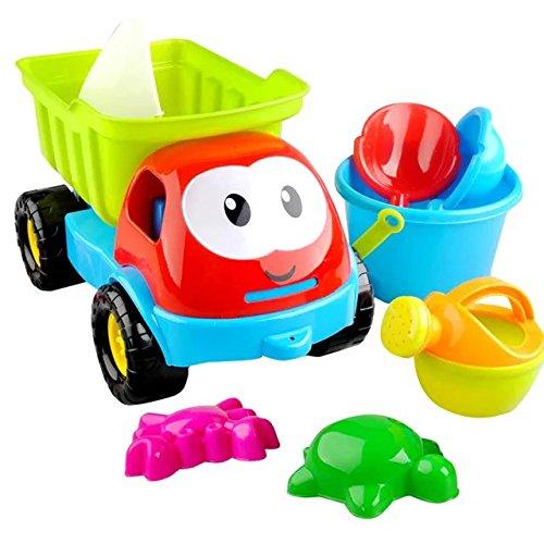 Sealive 8 Pcs Truck Sand ShovelRake Educational Kids Summer Beach Toys SetSand Game Tool toys Truck Vehicles Gift for Your little Guys