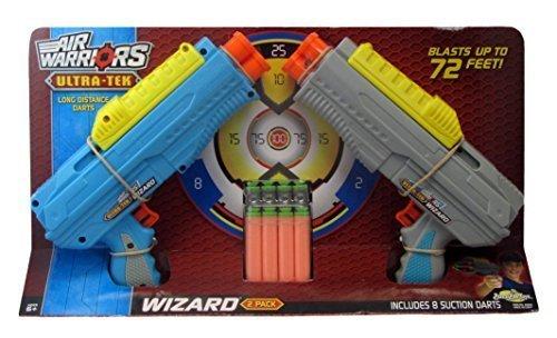 Buzz Bee Air Warriors Ultra-Tek Wizard 2-Pack Dart Blaster Guns Toys