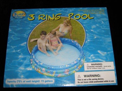 Surf Club 3-Ring Inflatable Kiddie Pool