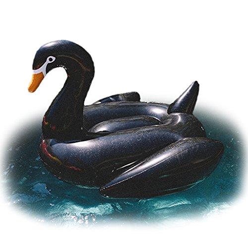 FLOATIE KINGS - PREMIUM BLACK SWAN Pool Float - Giant Size