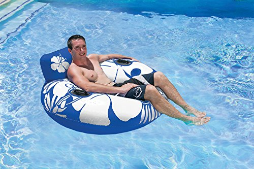 Poolmaster Day Dreamer Swimming Pool Inner Tube Lounge Blue