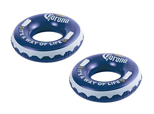 Summer Waves Corona Inflatable Corona Bottle Cap Swimming Pool Tube Float Raft
