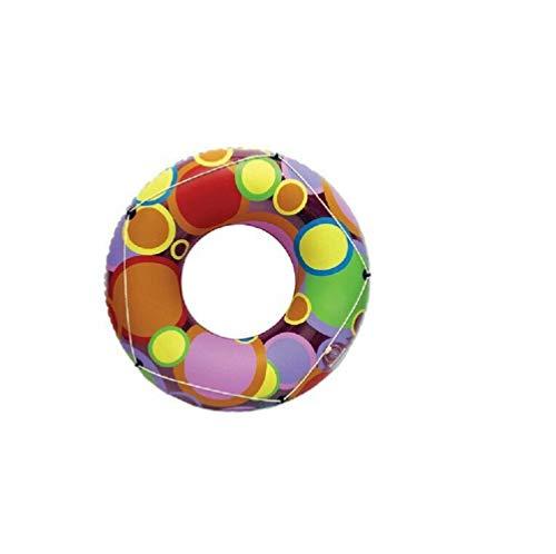 honjekitchen 48 inch Swimming Pool Tube Float Bright Circles for Age 8 1 pcs