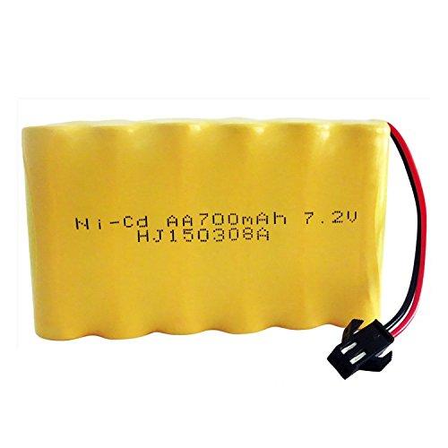 QsmilyRechargeable 72V 700mAh AA Ni-Cd Battery Packs SM Plug for Toys Power Bank