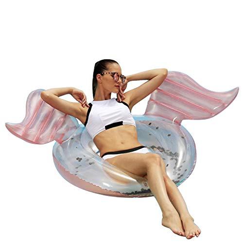 Franklin Sports Pool Float - Angel Wings Pool Tube - Inflatable Pool Tube - Adult Pool Raft - 40 Pool Float - Adult - Lounge Float - Ring Pool - Kids