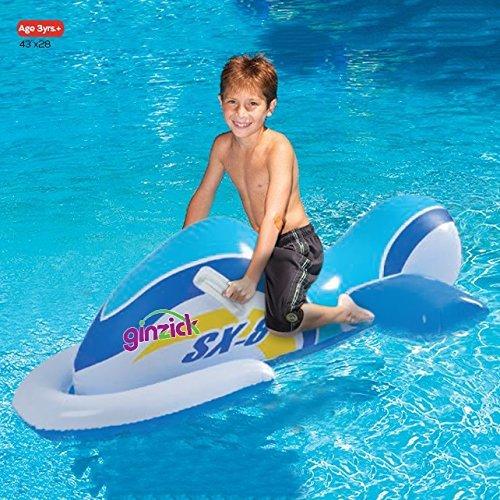 Ginzick Kids Swimming Inflatable Jet Ski Pool Float Model  Toys Play