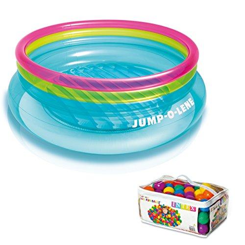 Intex Inflatable Jump-O-Lene Bouncer  100 Colored Fun Ballz  48267EP  49602EP