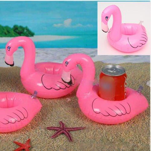Cute Flamingo Floating Inflatable Drink Holder Pool Bath Toys Bath Party Beach
