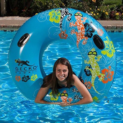 54 Gecko Hawaii Inflatable Swimming Pool Inner Tube
