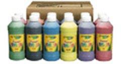 Crayola Premier Non-Toxic Liquid Tempera Paint Set 12 Set Assorted Vibrant Color