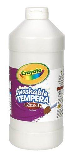 Crayola Tempera Washable Paint 32-Ounce Plastic Squeeze Bottle White