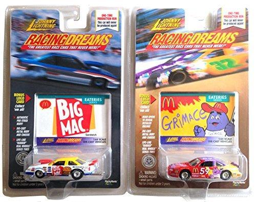 Johnny Lightning - Racing Dreams - Eateries Series McDonalds Big Mac Grimace Pro Stock Car - NHRA 164