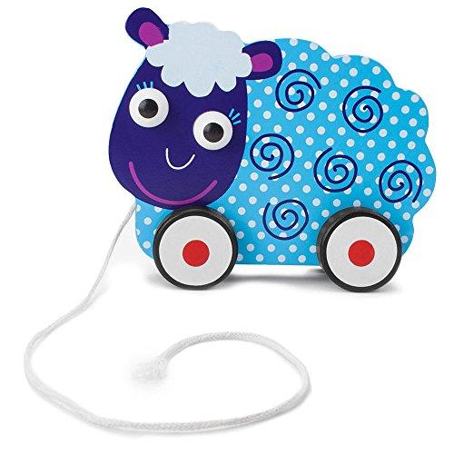 Imagination Generation Wooden Wonders Push-n-Pull Swirly Sheep Toy