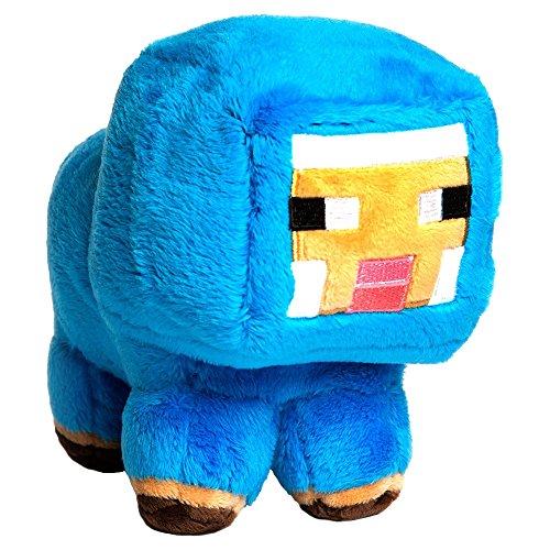 JINX Minecraft Blue Baby Sheep Plush Stuffed Toy Blue 7 Tall