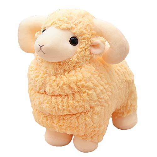elfishgo Lamb Stuffed Animal Little Sheep Goat Plush Toy Doll Gifts for Kids Valentines Christmas 98 inch Yellow