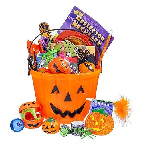 Toy World Halloween Toy Filled Pumpkin Bucket 8-Inch Bucket