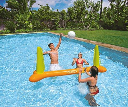 Kids Backyard Fun Play Intex Pool Volleyball Game Slide Inflatable Center Summer Outdoor Pool Fun Swimming
