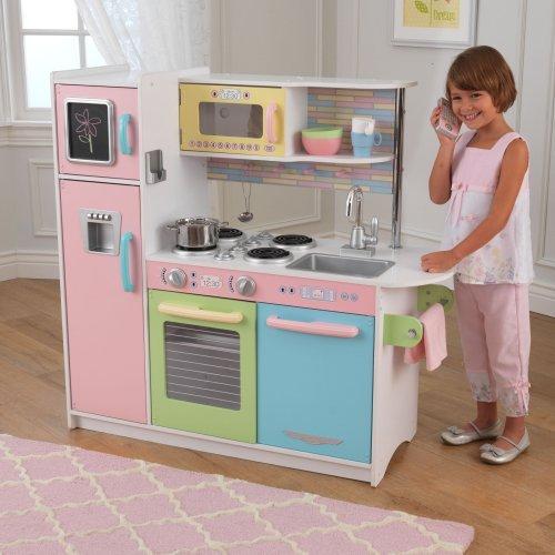 Adorable Engineered Wood Pastel Kitchen KidKraft
