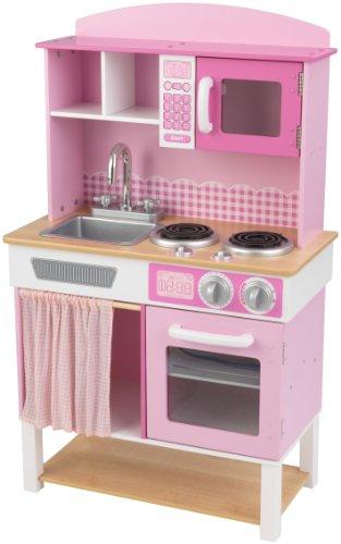 KidKraft Home Cookin Pink Wooden Kitchen Play Set