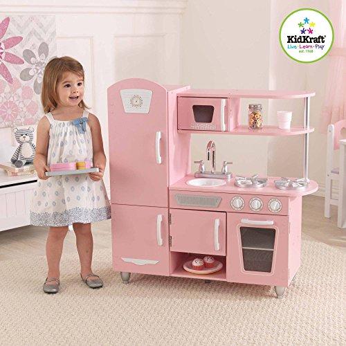 KidKraft Vintage Wooden Play Kitchen Pink