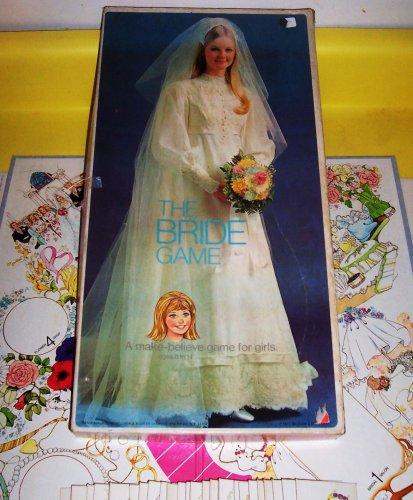 RARE ORIGINAL VINTAGE 1971 THE BRIDE GAME ANTIQUE WEDDING GAME-COLLECTIBLE TOY