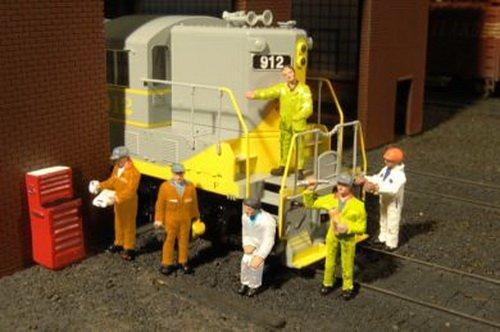 Bachmann Industries Miniature HO Scale Figures Mechanics Train6 Piece