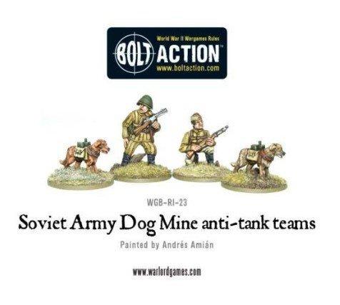 Warlord Games Soviet Anti-Tank Dog Teams 28mm Bolt Action Wargaming Miniatures