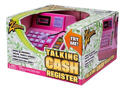 Zillionz Talking Cash Register - Pink by Zillionz