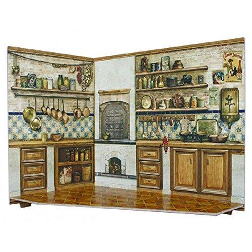 Keranova Keranova291-04 26 x 20 x 15 cm Clever Paper Doll House and Furniture Collection Kitchen Room Box 3D Puzzle 2-Piece by Keranova