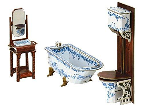 Keranova Keranova331 13x 5 x 45 cm Clever Paper Doll House and Furniture Collection Bathroom 3D Puzzle by Keranova
