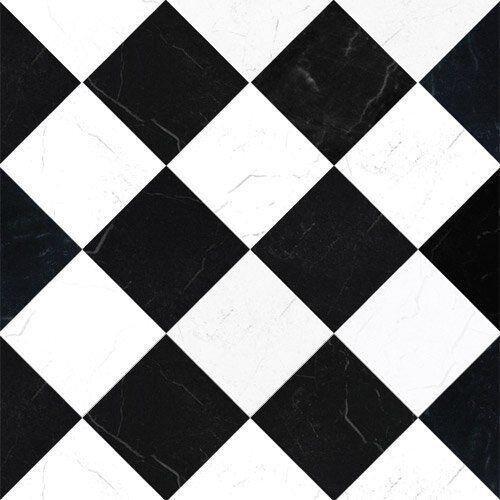 The Dolls House Emporium Black White Marble Tile Paper by The Dolls House Emporium