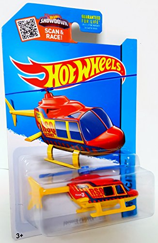 Hot Wheels 2015 HW City Propper Chopper Helicopter RedYellow Die-Cast Vehicle 52250