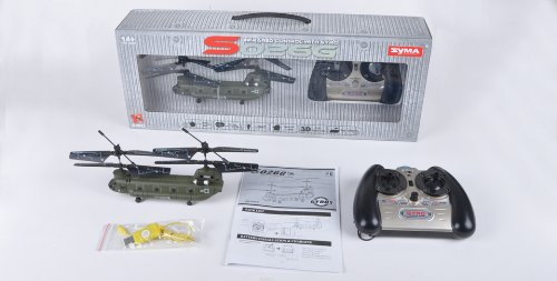 Syma S026 3 Channel RC RTF Mini CH-47 Chinook Helicopter