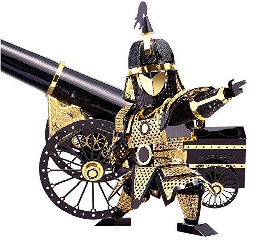 D-Mcark Figure Model Kits Metal Works 3D Laser Cut Models Artillery Jigsaw Developmental Toy for Children Kids