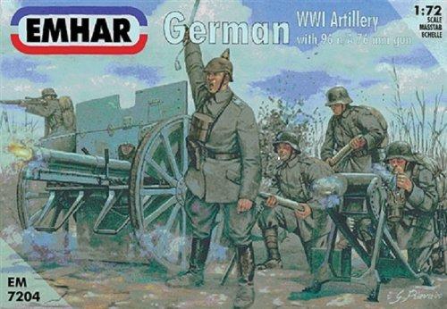 Emhar Models German Artillery Figures and Gun Model Building Kit